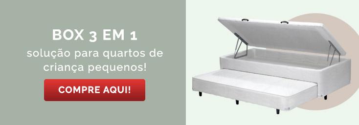 Comprar Box 3 em 1 com baú e bicama | Euro Colchões