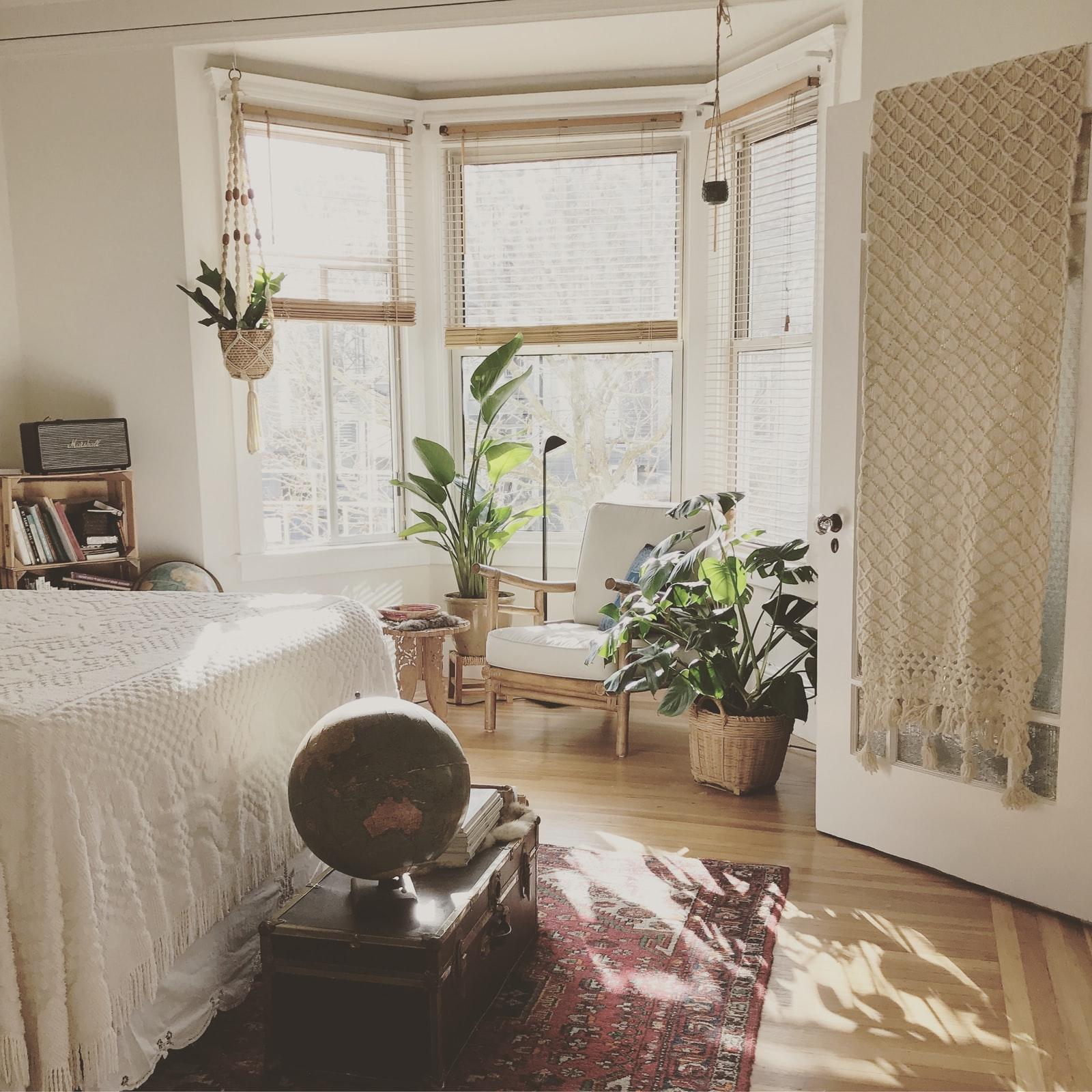 Plantas no quarto para refrescar