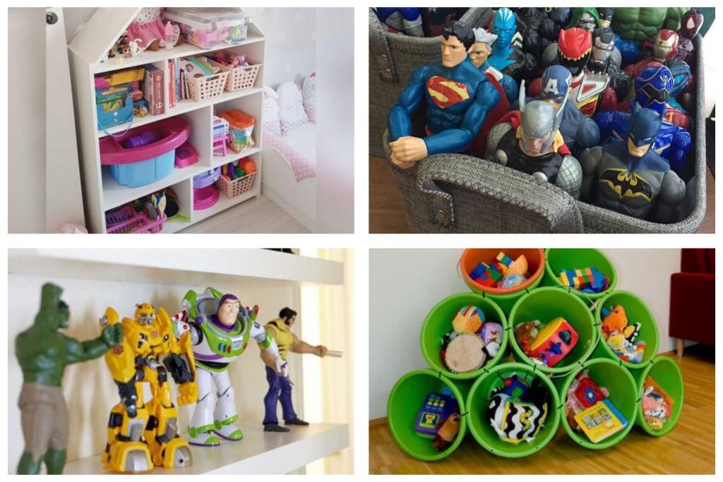 Formas de organizar brinquedos para manter o quarto organizado na volta às aulas