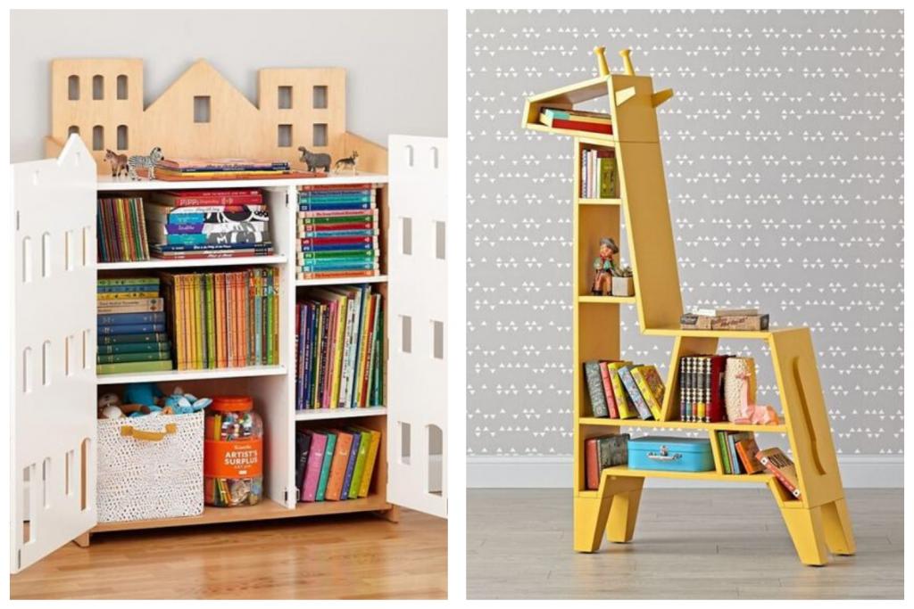 estante infantil para livros e objetos